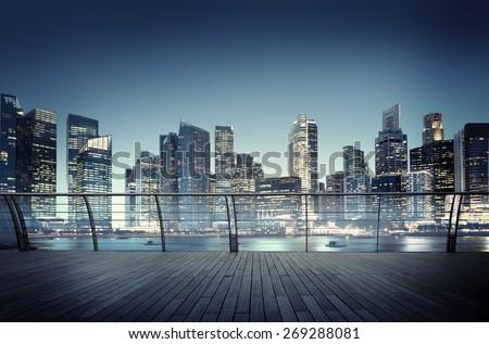 Cityscape Urban Scene Modern Scenic Skyline Skyscraper Concept Royalty-Free Stock Photo #269288081