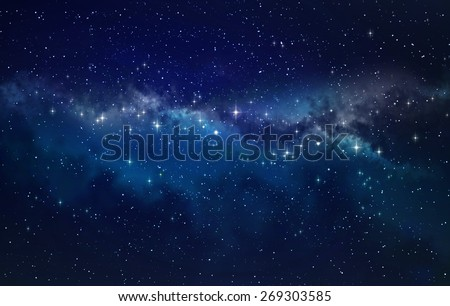 Deep space. High definition star field background Royalty-Free Stock Photo #269303585
