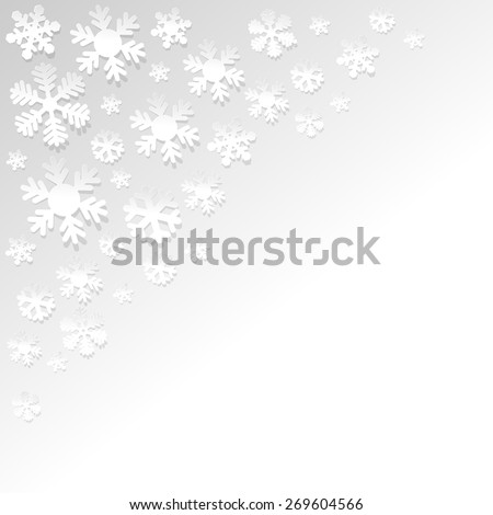 Snowflakes background white paper #269604566