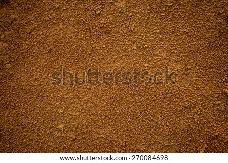 Red dirt (soil) background or texture.  Royalty-Free Stock Photo #270084698