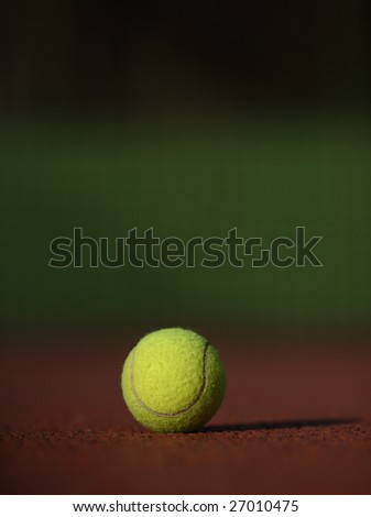 Tennis ball on the court #27010475