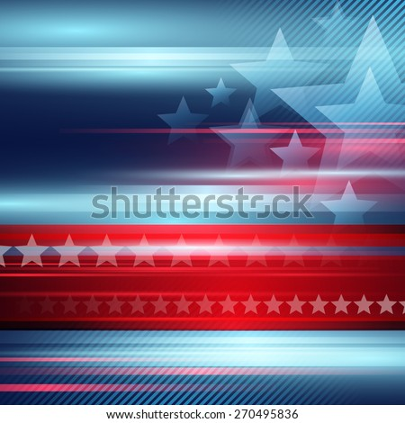 American Independence Day  Vector striped red and blue background