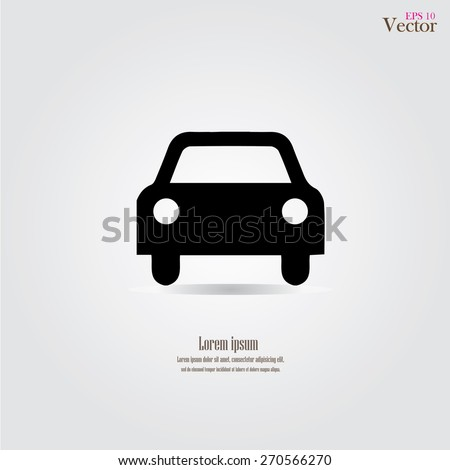 Car icon.car icon vector on gray background. Vector illustration. Royalty-Free Stock Photo #270566270
