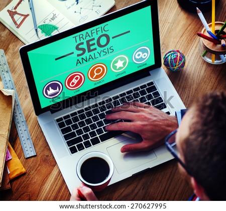 Search Engine Optimization Analysis Information Data Concept #270627995