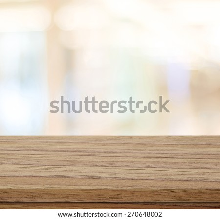 Empty table and blurred store bokeh background, product display montage #270648002