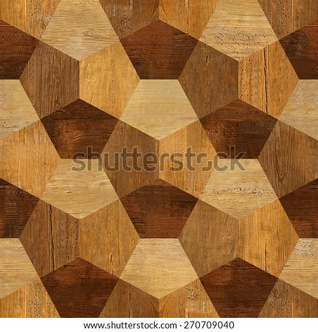 Abstract decorative blocks - Interior wall decor - decorative tiles - seamless background - wood texture - Continuous replication #270709040