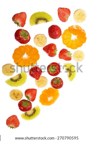 Collection of fruit isolated on white background  #270790595