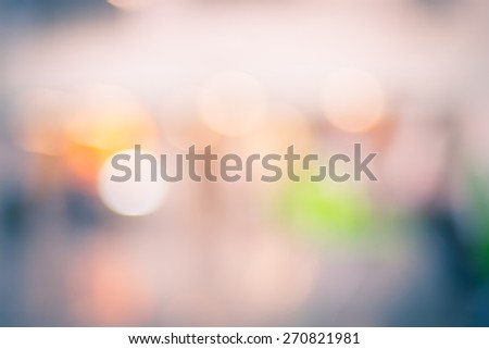 Blur background : Abstract bokeh light.