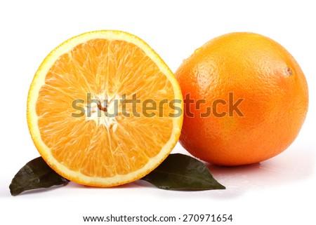 Orange and a half a orange #270971654
