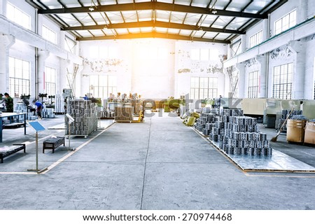 factory workshop interior and machines #270974468