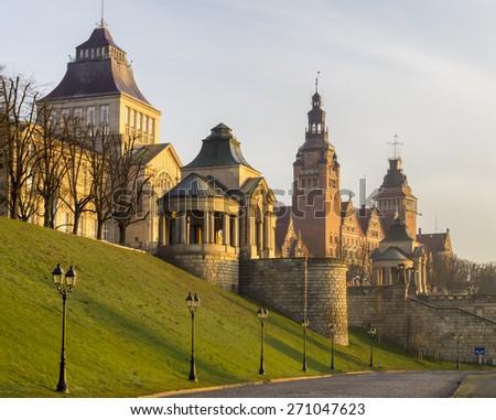 "terraces viewing ""Haken Terrase""in Szczecin Royalty-Free Stock Photo #271047623"