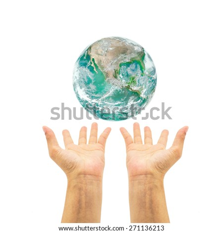 Saving environment concept.  Elements of this image furnished by NASA  #271136213