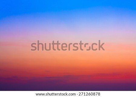 Colorful Sky After Sunset. Natural Sky Background. #271260878
