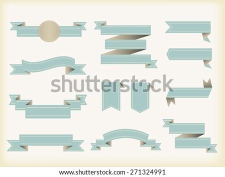 Ribbon banner vector illustration.Set of retro ribbons. #271324991