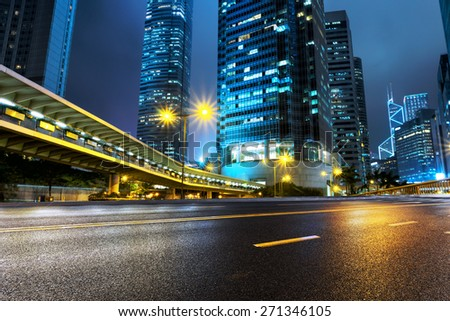 illuminated buildings and urban road #271346105