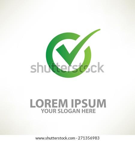 Check mark design,logo template,clean vector