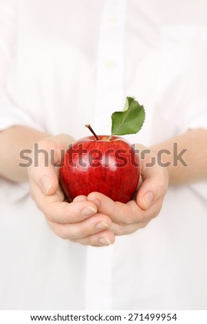 Delicious Apple cupped in hands #271499954