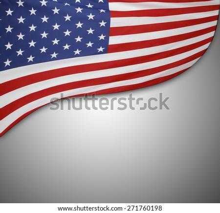 American flag on grey background #271760198