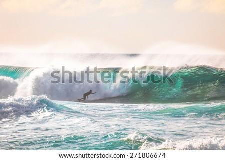 Epic Hawaiian Surf on Oahu's North Shore Royalty-Free Stock Photo #271806674