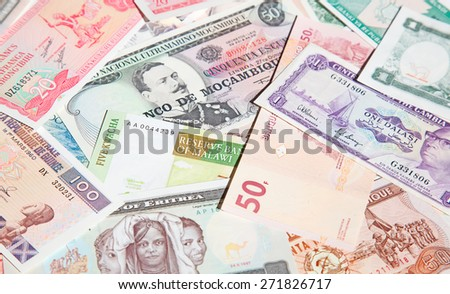 Variety of the African banknotes #271826717