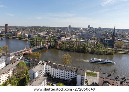 frankfurt am main germany with the main river #272050649