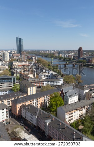 frankfurt am main germany with the main river #272050703