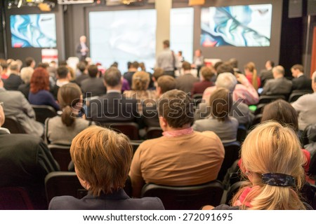 Speaker at Business Conference and Presentation. Audience in the conference hall. Business and Entrepreneurship. #272091695