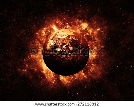 End of the World - Elements of this Image Furnished by NASA Royalty-Free Stock Photo #272118812