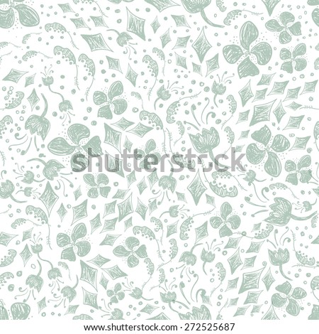 hand-drawn floral pattern in vintage style for your design - greeting, wedding cards, banners. . #272525687