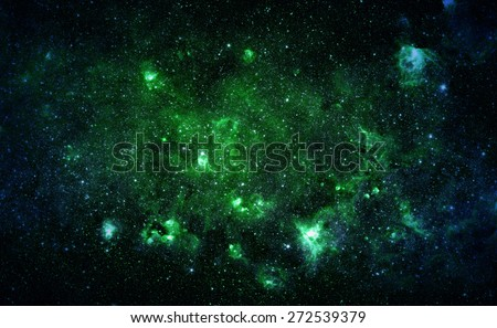 Green Starfield - Elements of this Image Furnished by NASA