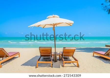 Bed beach on tropical beach #272543309