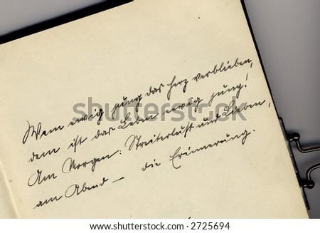 Detail of vintage autograph book #2725694