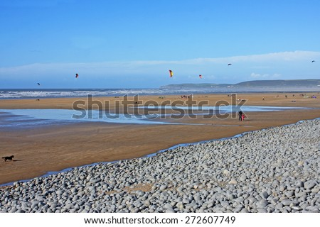 Westward Ho! beach, Devon Royalty-Free Stock Photo #272607749