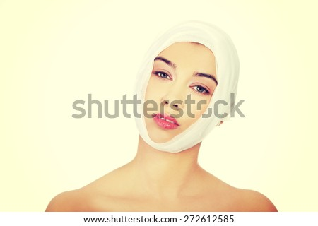 Young woman with a band on her head #272612585