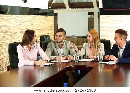 Business people working in conference room #272671388