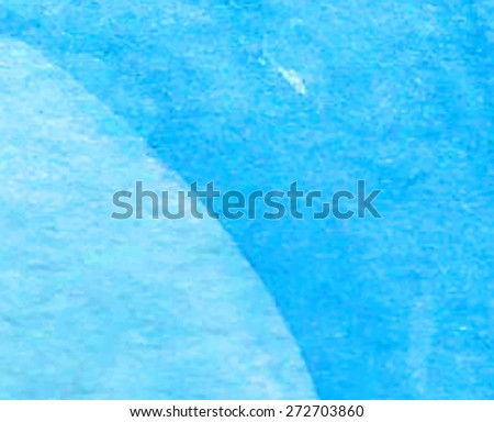 Blue watercolor hand drawn abstract vector paper texture background. Wet brush strokes painted illustration. Design sketch card for decoration, scrapbook, banner, poster, print, wallpaper, template  #272703860
