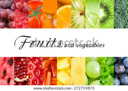 Fresh fruits and vegetables. Healthy food concept #272759873