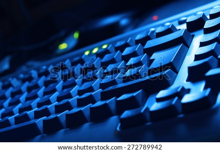 Blue Keyboard #272789942