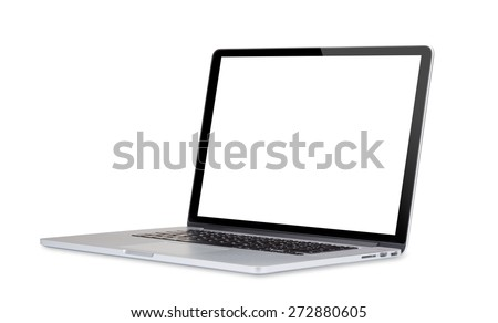Laptop computer isolated on white background. #272880605