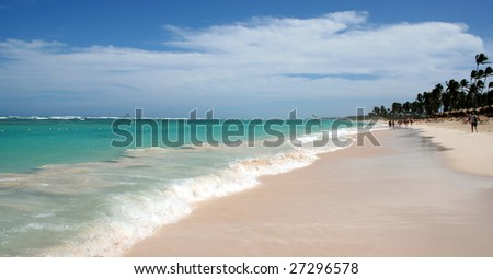 The stunning beach at Punta Cana, Dominican Republic. #27296578