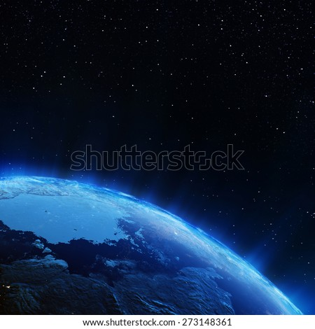 Earth north city lights. Elements of this image furnished by NASA #273148361