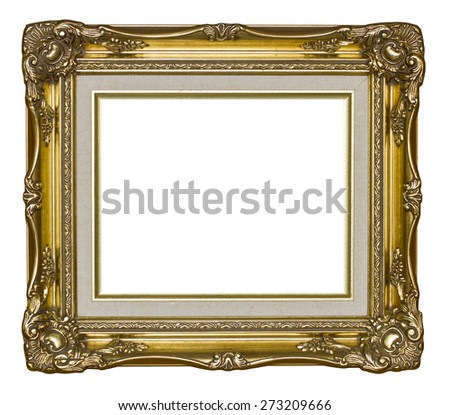 Gold frame ,isolated on white background, with clipping path #273209666
