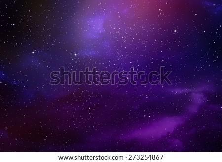 Stars in the night sky,nebula and galaxy #273254867