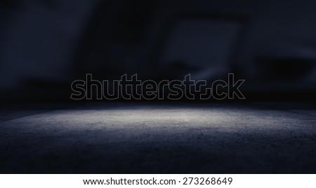 Spotlight on concrete floor. #273268649