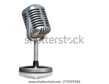 The microphone with isolated background #273399386