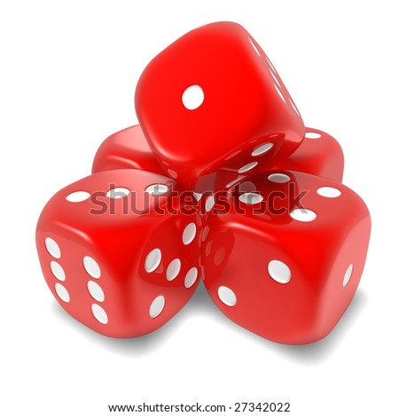 Red dice - five #27342022