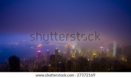 Hong Kong night scene #27372169