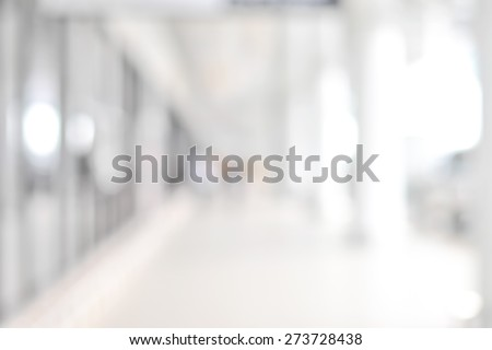 White blur abstract background from building hallway (corridor) Royalty-Free Stock Photo #273728438