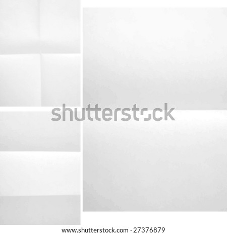 Folded paper texture three different A4 format #27376879