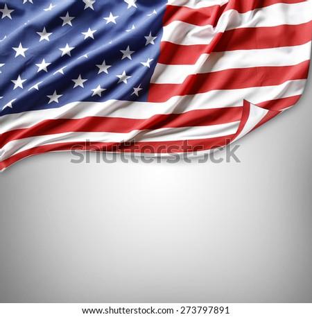 American flag on grey background #273797891